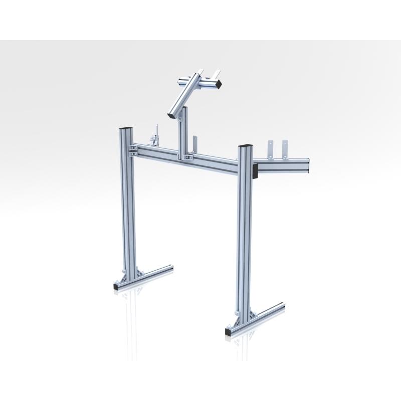 support ind pendant triple crans par jonction aluminium gris. Black Bedroom Furniture Sets. Home Design Ideas