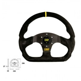 OMP steering wheel 330mm Black Superquadro