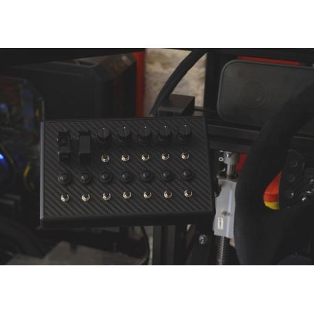 Support noir Button box