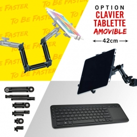 Support Keyboard / tablet articulated arm 41 cm