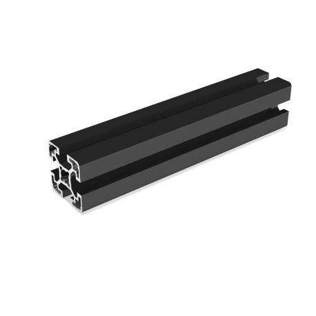 Profilé aluminium anodisé Noir 40x40 mm