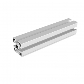 Profilé aluminium anodisé Gris 40x40 mm