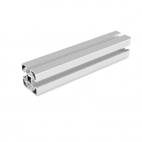 Gray aluminium profile 40x40 mm