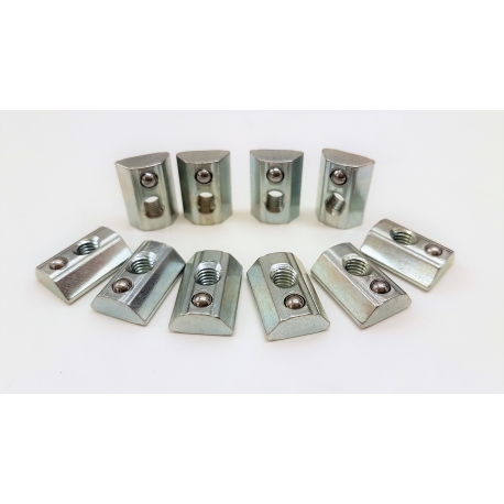 Pack of 10 post-mounting nuts diameter 8