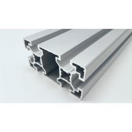 Profilé aluminium anodisé Gris 80x40 mm