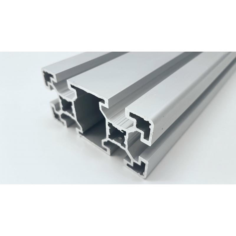 profil aluminium anodis gris 80x40 mm. Black Bedroom Furniture Sets. Home Design Ideas