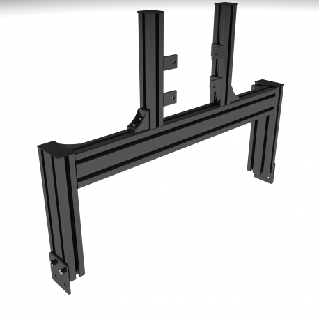 Black support, single junction screen (19 to 42 inches)