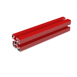 Red aluminium Profile 40x40 mm