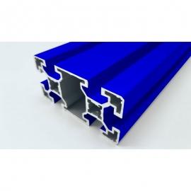 Profilé aluminium Bleu 80x40 mm