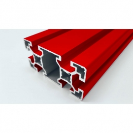 Red aluminium Profile 80x40 mm