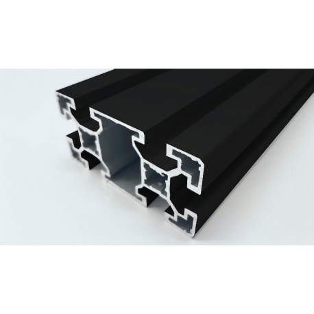 Profilé aluminium anodisé Noir 80x40 mm
