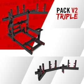 Pack colored V2 with triple screens junction